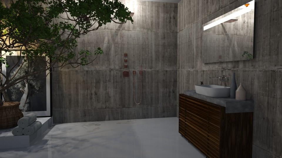 concrete wet room - Bathroom - by Ripley86