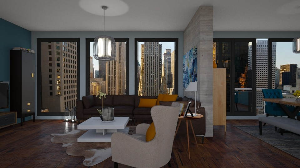 Living room - Masculine - Living room - by Annathea