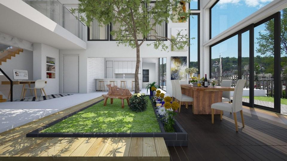 House with Indoor Garden - by ayudewi