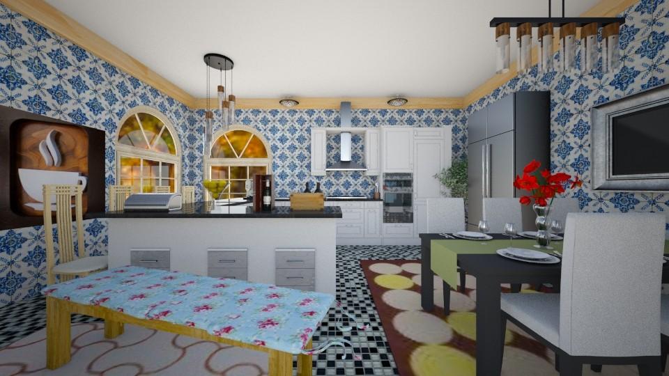 cozinha rustica - by Tininha oliveira