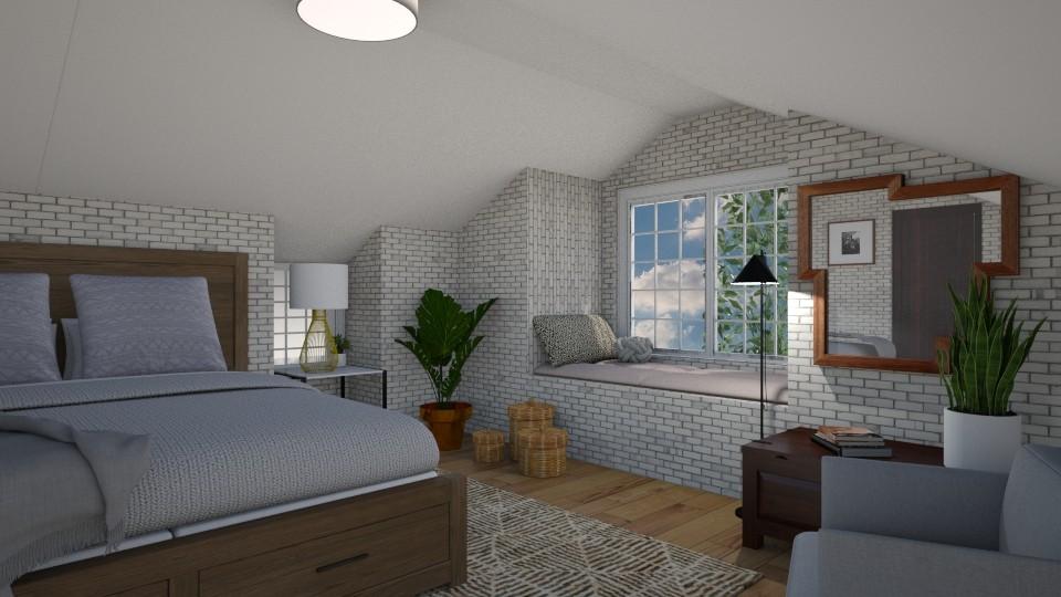Attic bedroom - Bedroom - by dorota_k