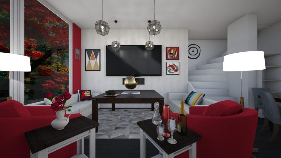 Bold - Modern - Living room - by 24alexber