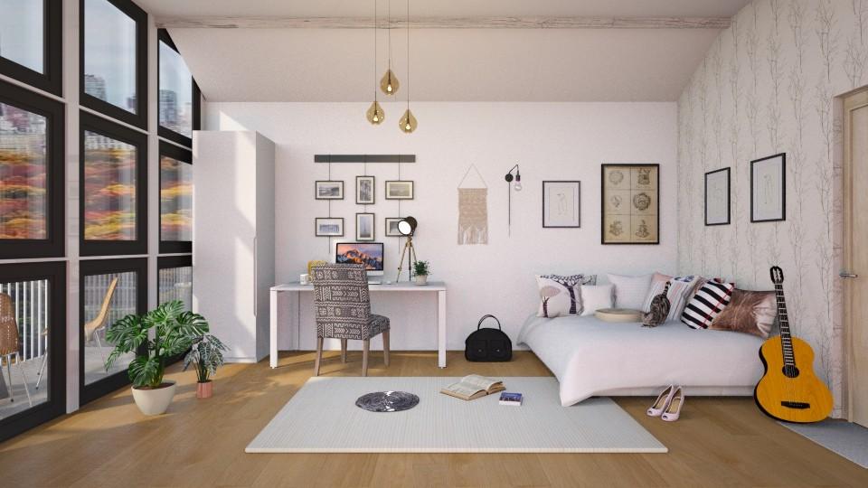 Student Bedroom - by jasmin_jasmin