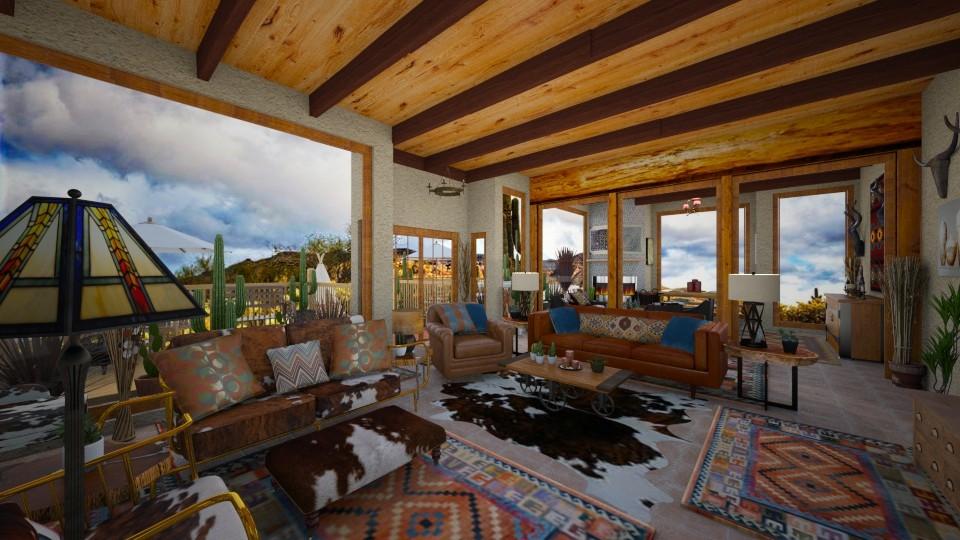 Southwest Desert Home - Rustic - Living room - by Kelly Carter