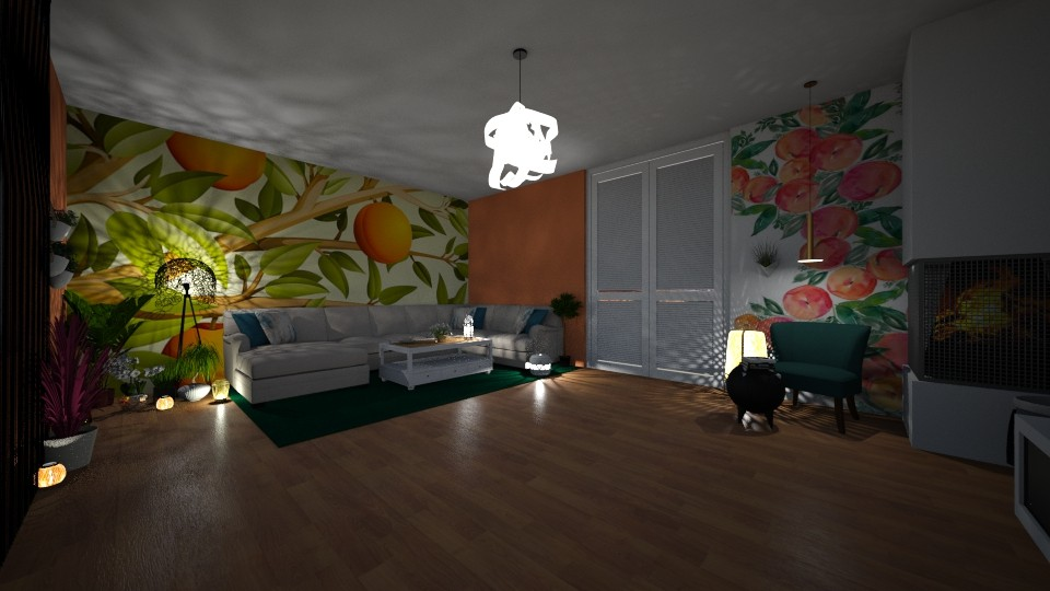 Living PEACH - Eclectic - Living room - by Art3miys
