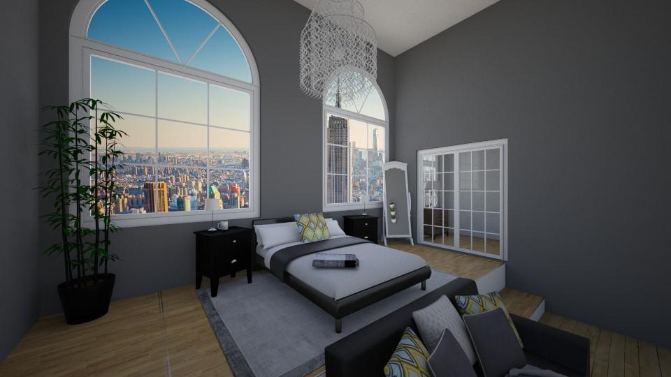 City apt bedroom - Bedroom - by mypokecraft567