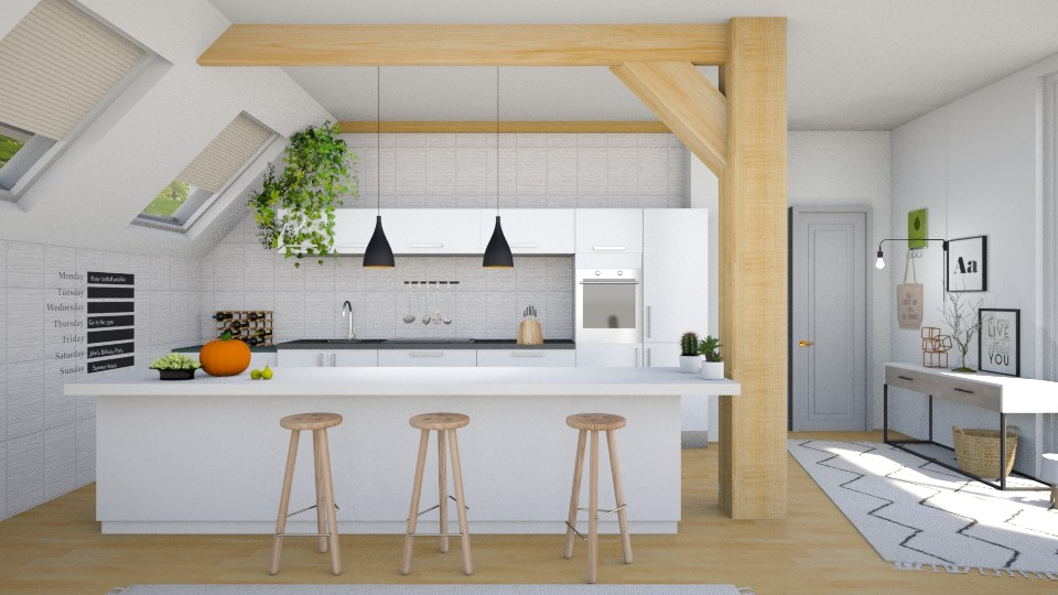 Attic Kitchen - by ariema