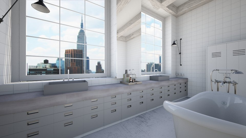 NYC White Bath - Bathroom - by amandafern