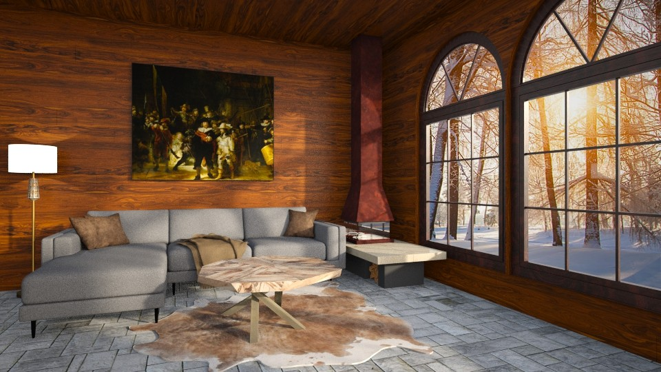 Winter wood - Living room - by Louise Hedlund