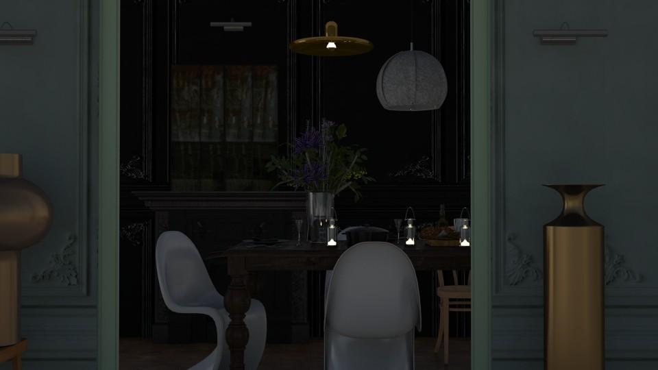 dark molding - Classic - Dining room - by marinmarin