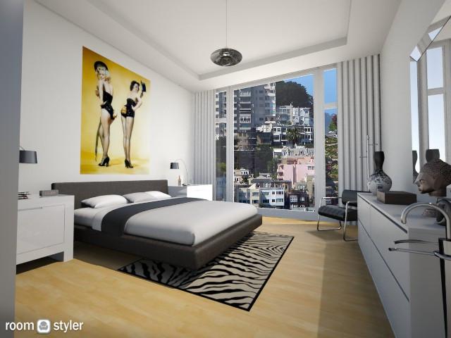His Space - Modern - Bedroom - by LadyVegas08