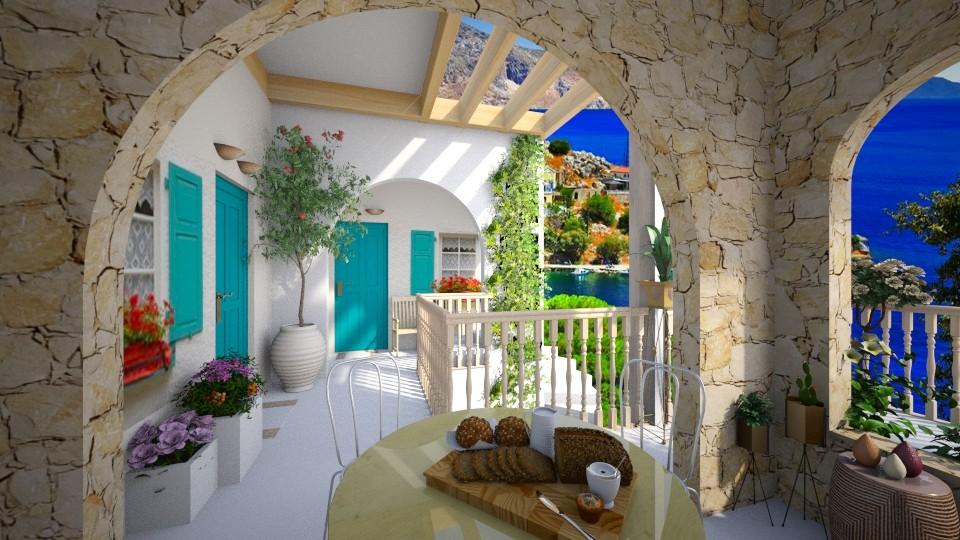 Summer in Greece - Garden - by bigmama14