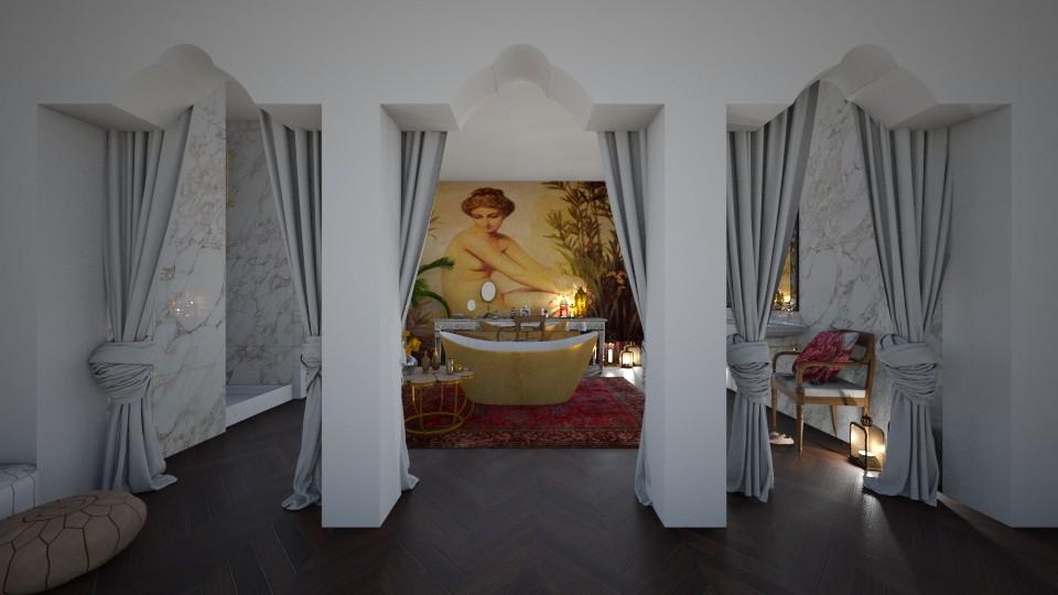 A french bohemian bath - Feminine - Bathroom - by sephara