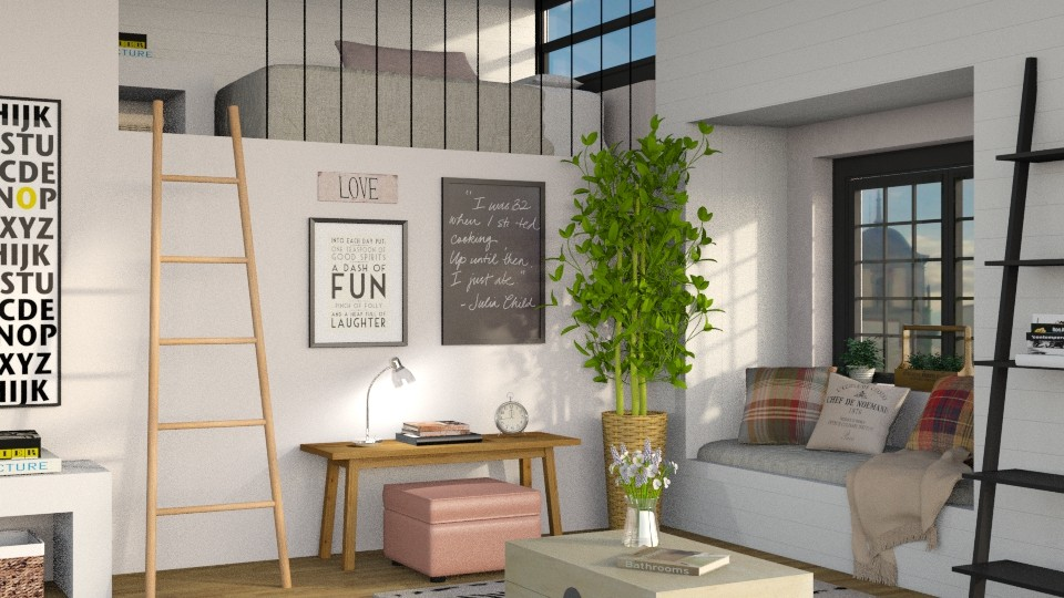 Students Bedroom - by Sally Simpson