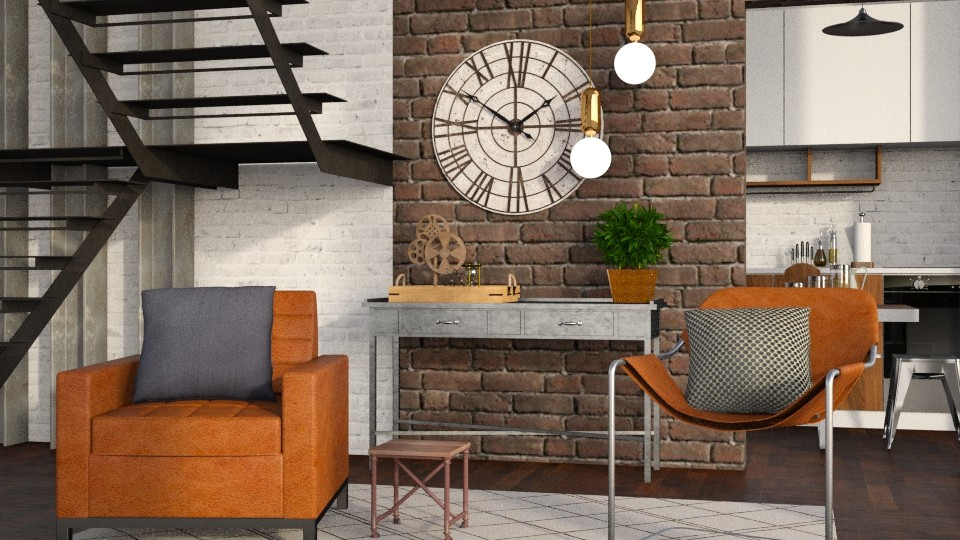 Industry - Modern - Living room - by Jessica Fox