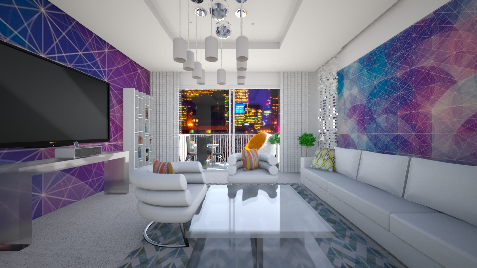 geometric room - Living room - by sofiashevchenko