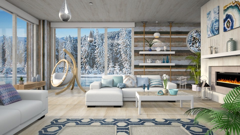 Boathouse on Ice - Living room - by LB1981
