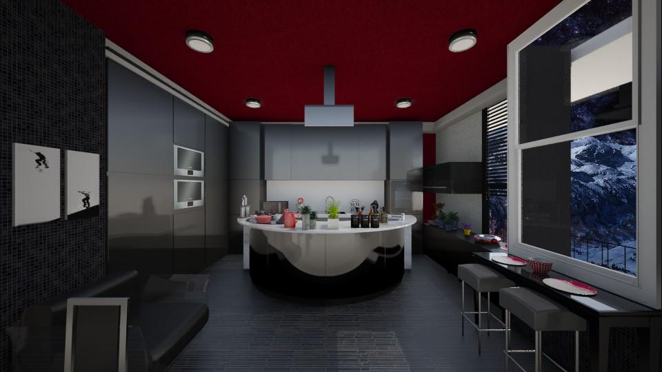 Black Kitchen - Kitchen - by Gre_Taa