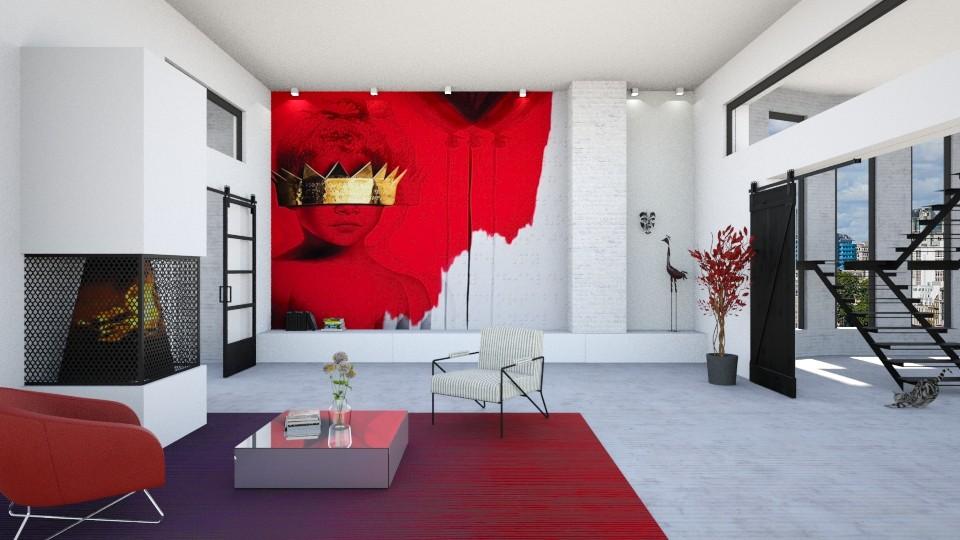 minimalism - Living room - by maudberg01