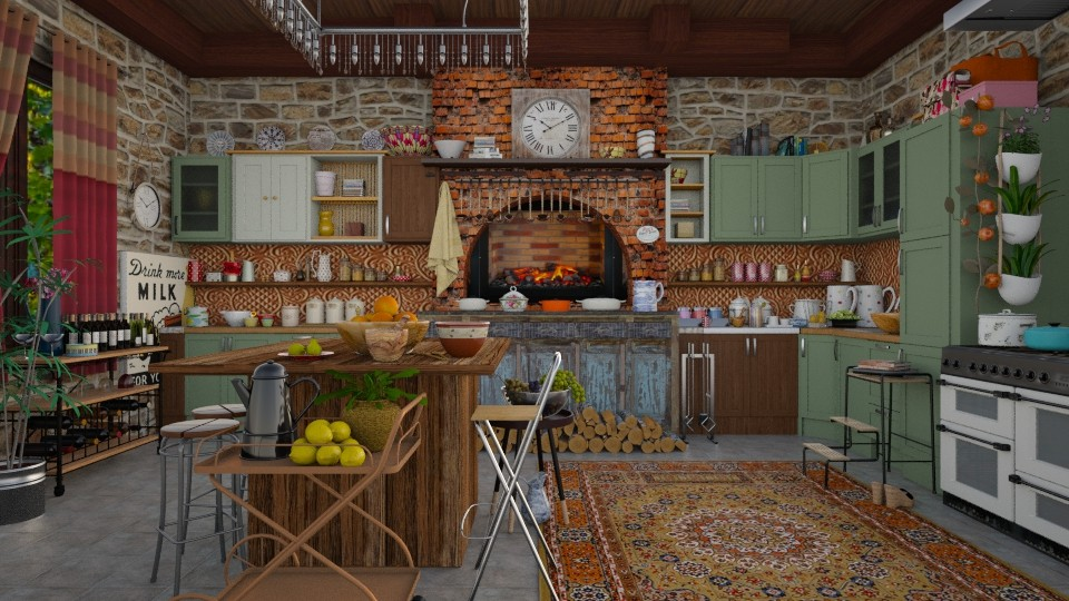 my kitchen - Country - Kitchen - by Ida Dzanovic