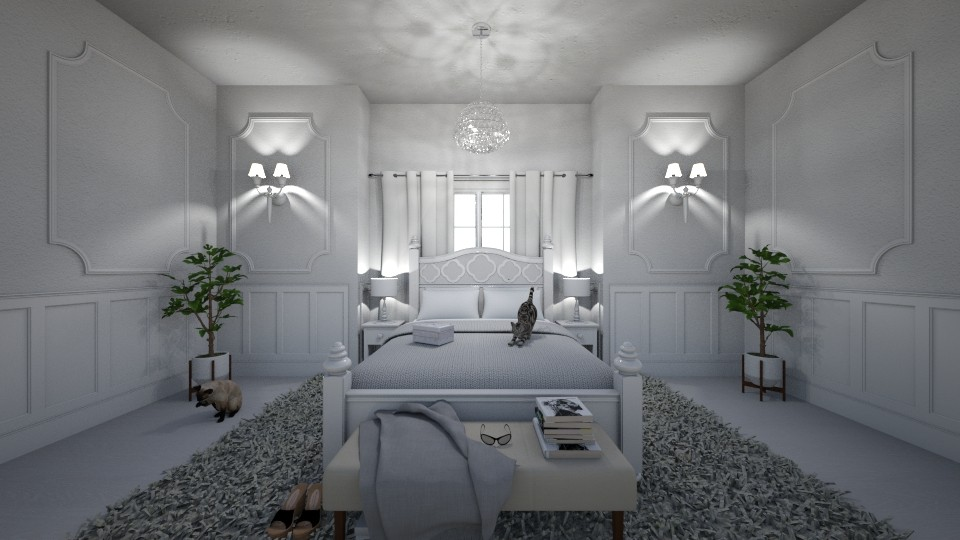 Princess Bedroom white - Classic - Bedroom - by Flight Claudia
