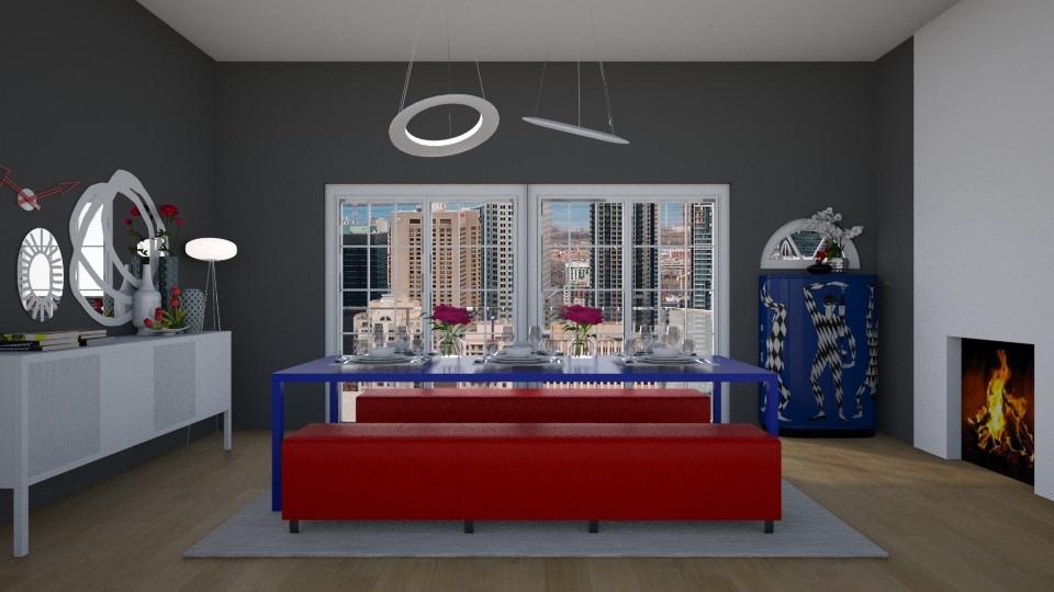 redblue - Dining room - by rosej