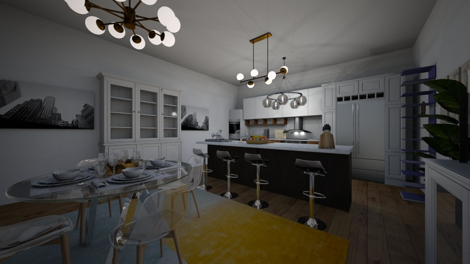 kitchen dining room - Kitchen - by carmenouloulou