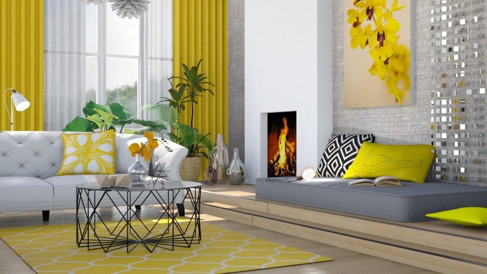 Summer yellow - Living room - by Liu Kovac