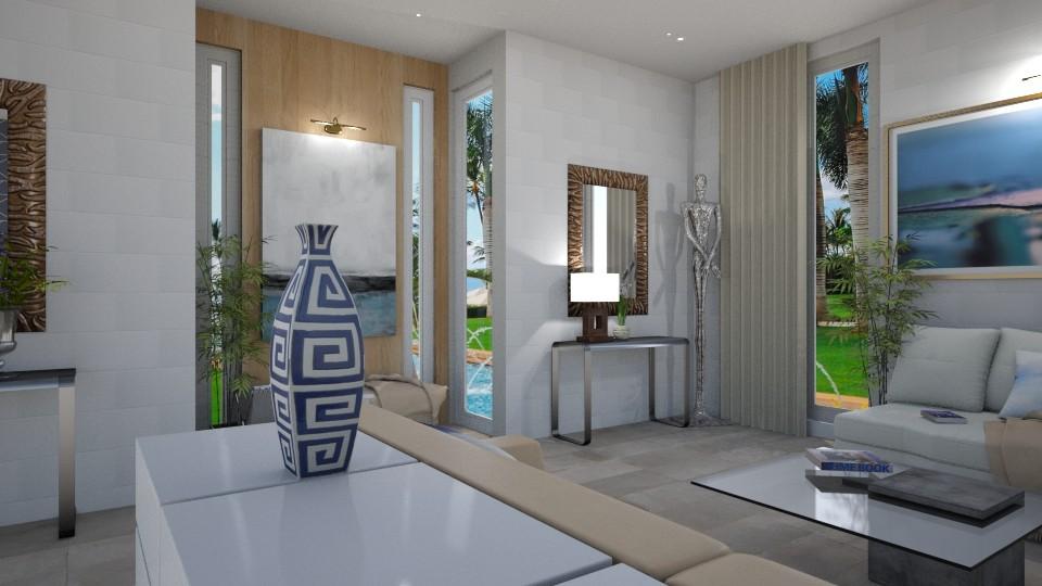 Blue Invitation 2 - Living room - by TrustKisha