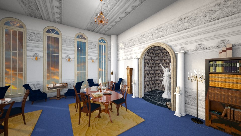 Ravenclaw Common Room - by Valerie Meiner