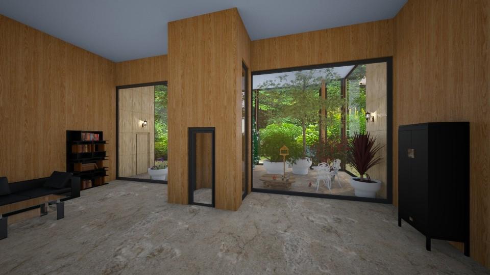 indoor bird garden - by Phospective