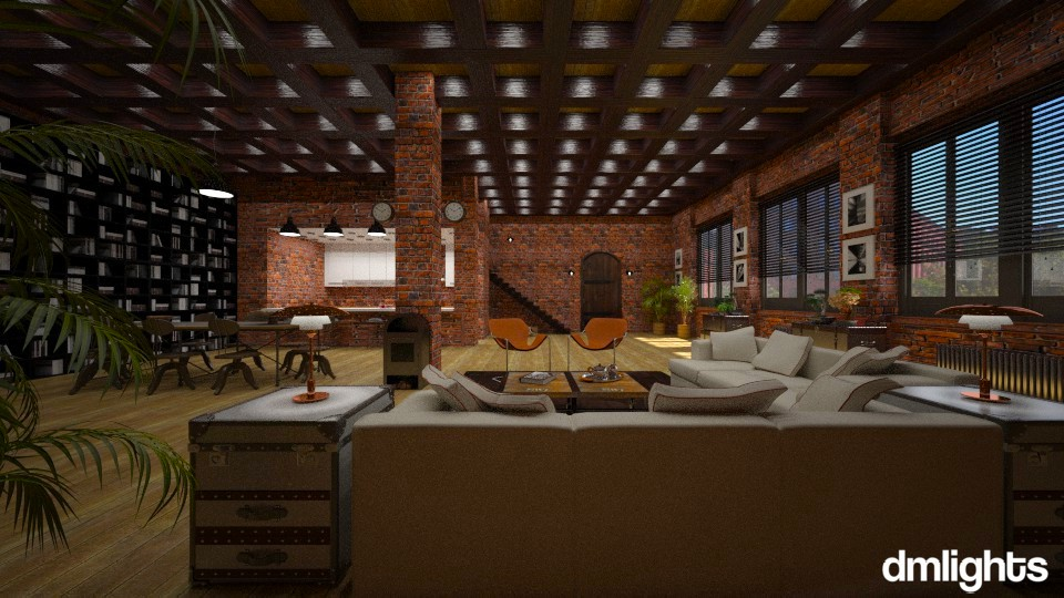 Industrial Loft - Modern - Living room - by Claudia Correia