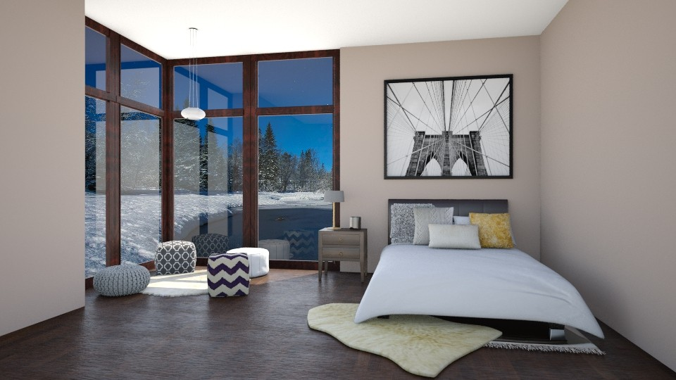 Winter Bedroom - Bedroom - by CatLover0110