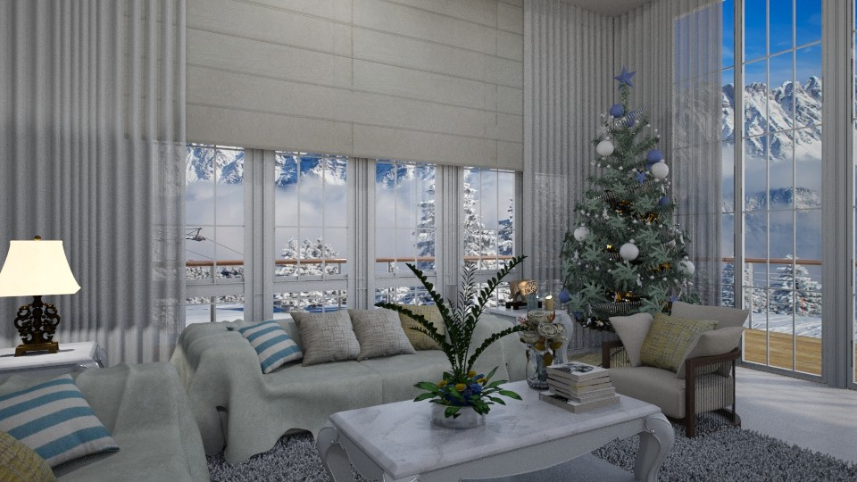Merry Christmas - Living room - by Maria Helena_215