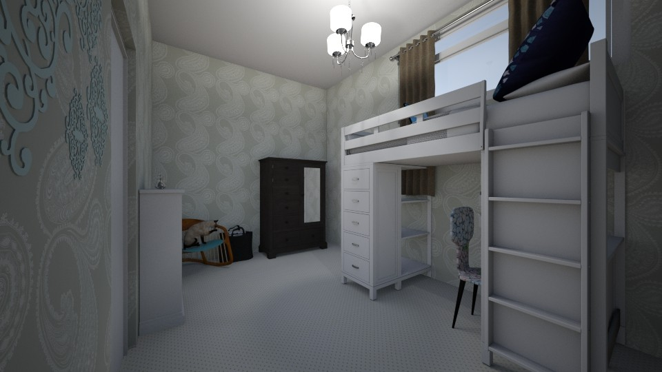 blue - Bedroom - by LeiRech