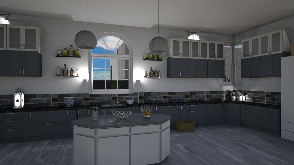 Blue n White Kitchen - by jdenae3