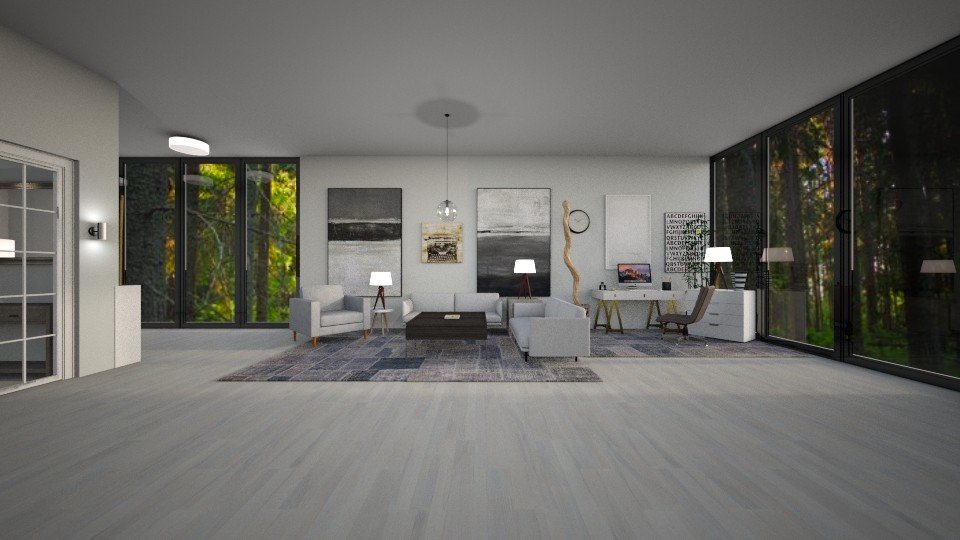 office living room - by cschliass