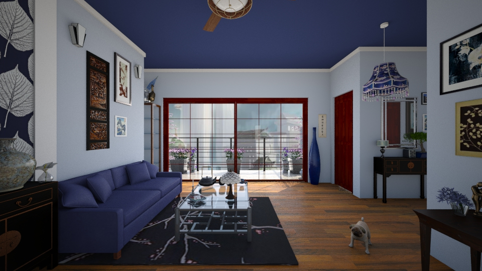 Blue Room - Vintage - Living room - by Sophia Cooper