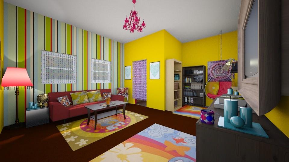 Hippie Dream - Living room - by ijustlikemakingfloorplans