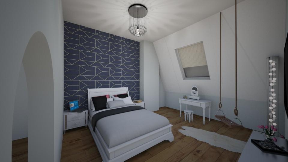 sypialnia z garderoba - Bedroom - by oldzi92