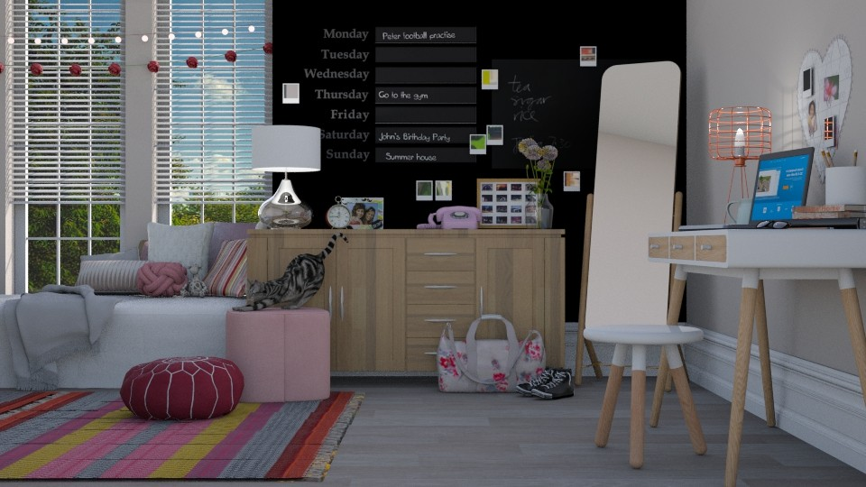 typical teen room - Living room - by pandajoy
