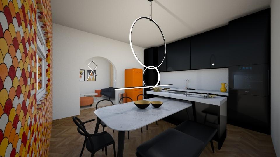 Open concept kitchen - Modern - Kitchen - by Ster