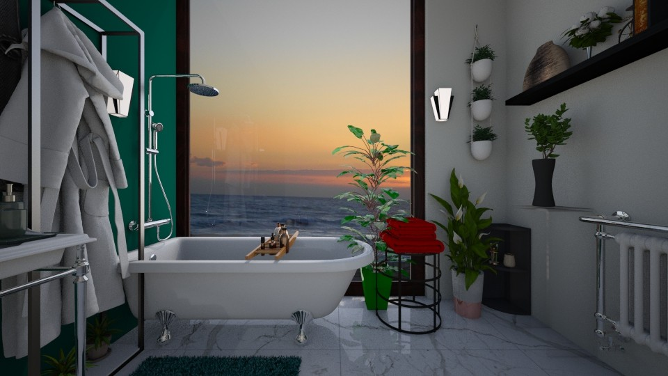 bath - Glamour - Bathroom - by snezzza
