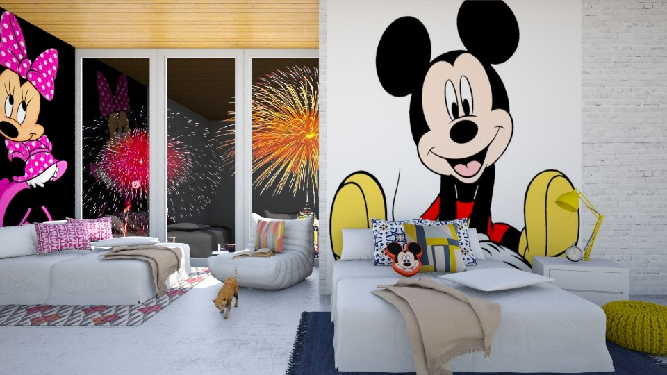 Mickey And Minnie - Modern - Bedroom - by bgref