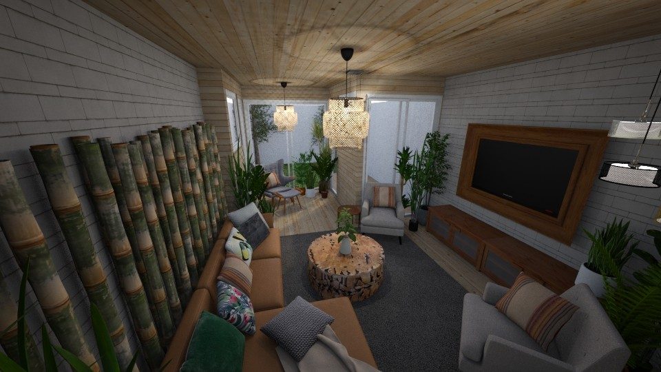 Retro Plant Living Room - Living room - by DecoMaster5