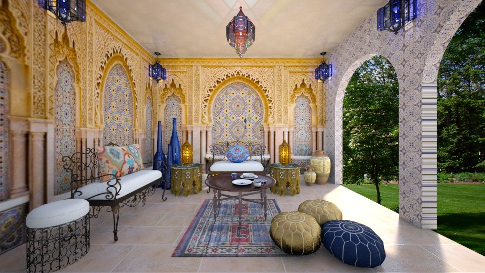 Moroccan - Global - Living room - by somooon15