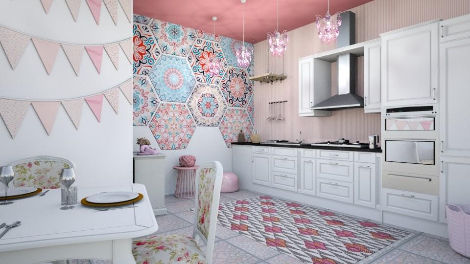 bohemian pink kitchen - Modern - Kitchen - by zayneb_17