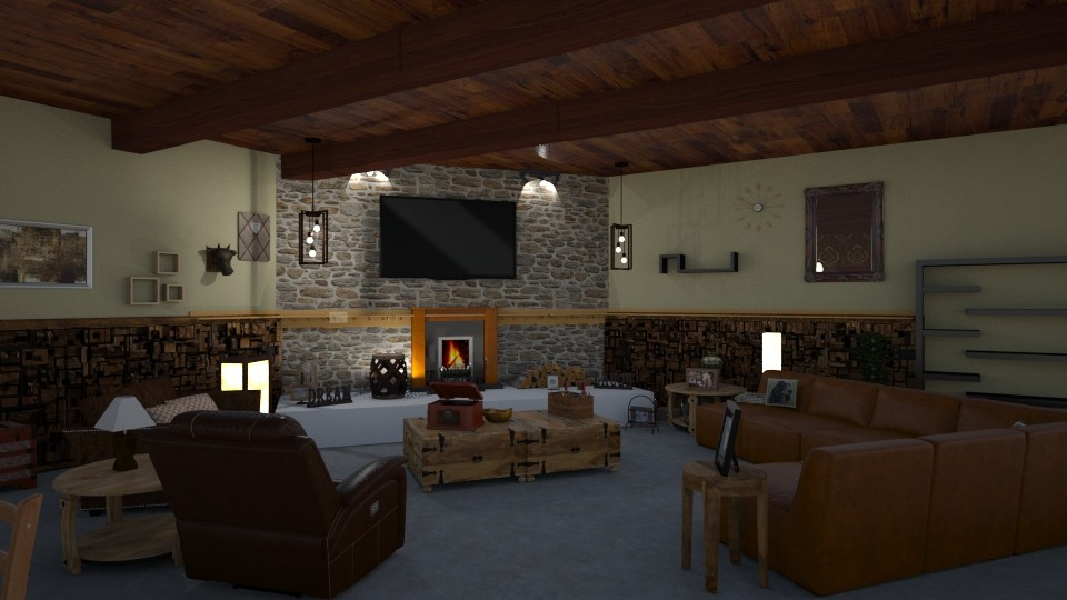 Gary downstairs - Living room - by jdenae3