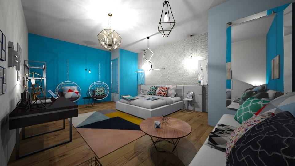 geo room - Bedroom - by carmenouloulou