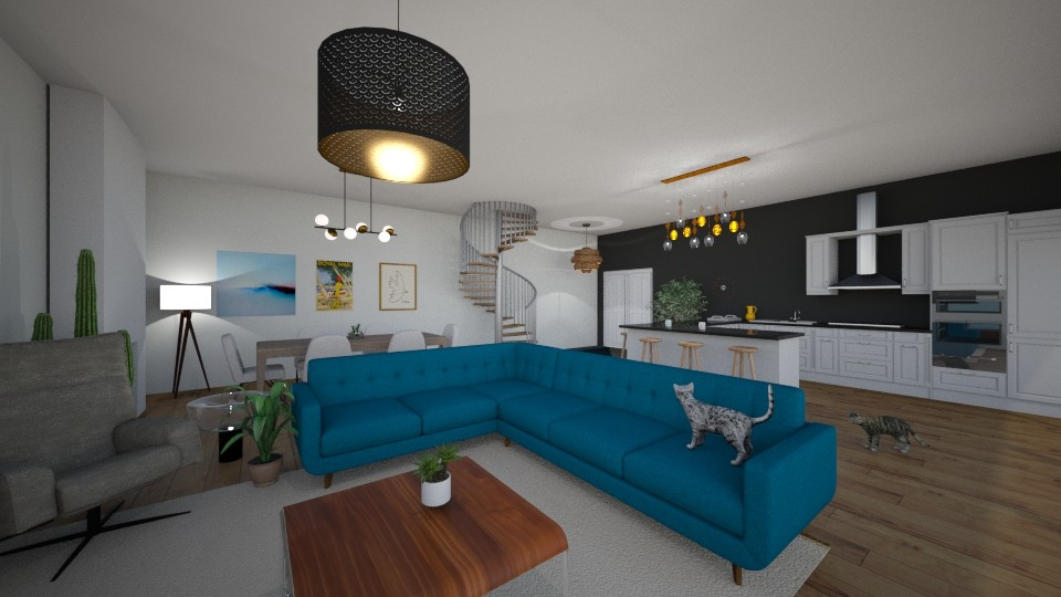open living space - Living room - by Marion_